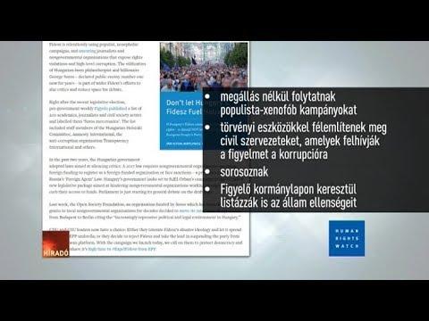 A Human Rights Watch kizáratná a Fideszt a Néppártból