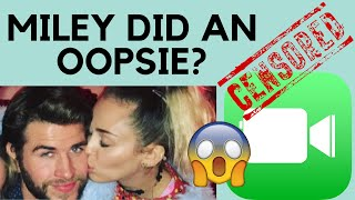 Miley Cyrus uses FaceTime to do WHAT with Liam Hemsworth?! (Shocking!) (Not Clickbait!)
