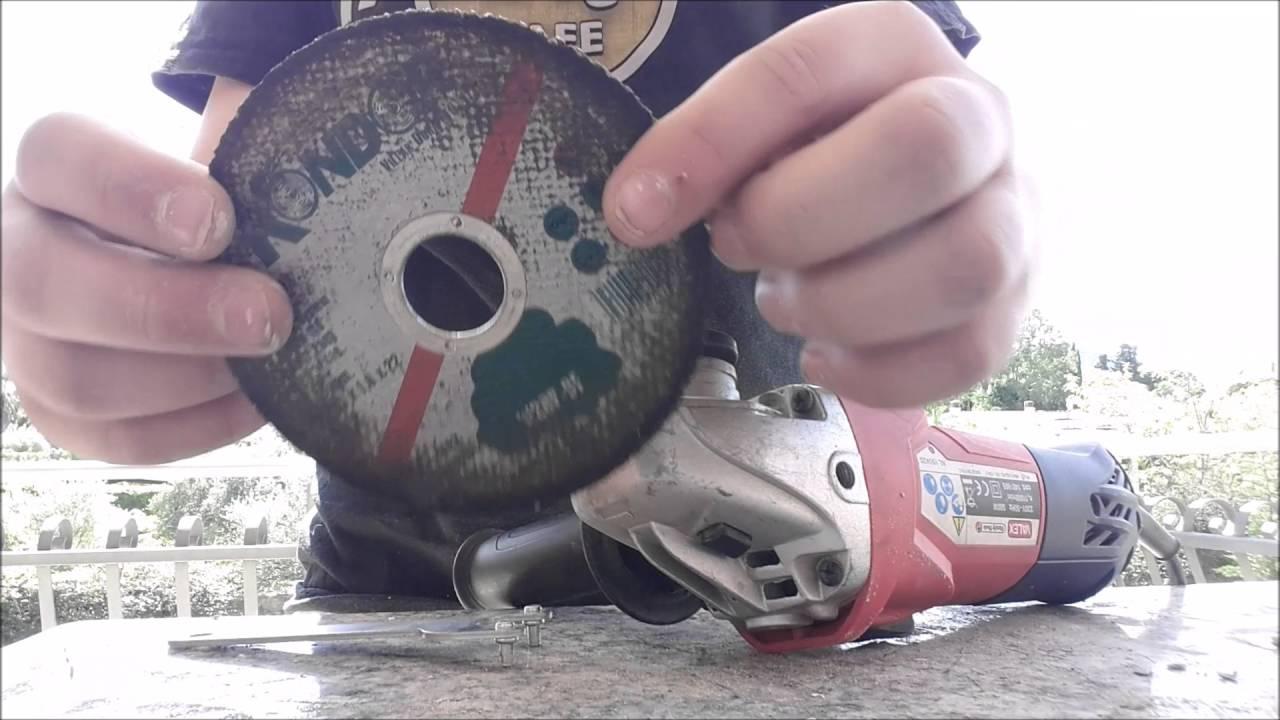 Come cambiare il disco e tagliare compensto con la smerigliatrice