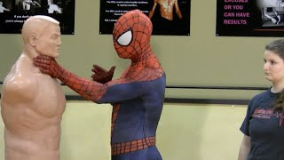 self defense for kids with spider man   episode 50 100 count smart targeting lesson 6