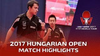 2017 Hungarian Open Highlights: Fang Bo/Zhou Yu vs Hugo Calderano/Gustavo Tsuboi (Final)