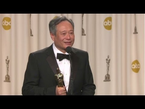 Raw Video: Ang Lee backstage at the Oscars