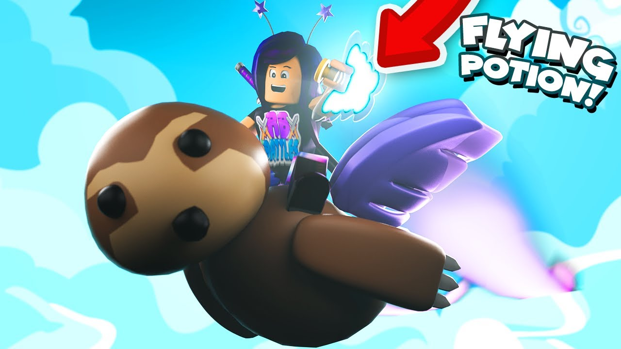 Giving my pets a FLYING POTION that gives them WINGS in Roblox Adopt Me!