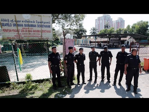 Heavy police presence at Seafield temple and One City business complex