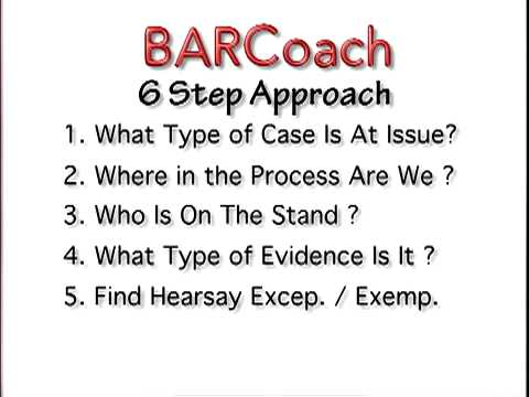 BAR EXAM 6 Step EVIDENCE Approach for MBE