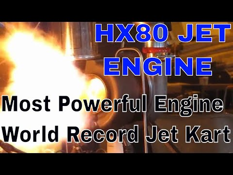 Jet Engine Karts First test of the New HX80 Monster Jet engine
