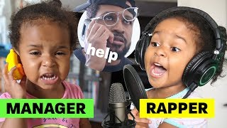 If my 2-year-old managed my 4-year-old's rap career