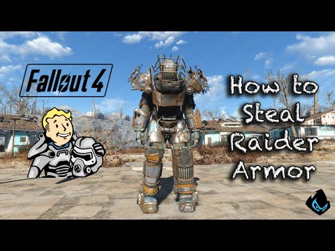 fallout 4 steal raider power armor youtube