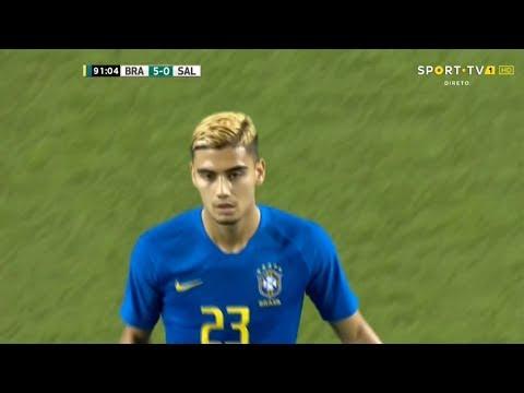 Andreas Pereira Debut for Brazil vs El Salvador (Friendly) 12.09.2018