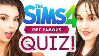 Sisters take GET FAMOUS quiz! (The Sims 4)