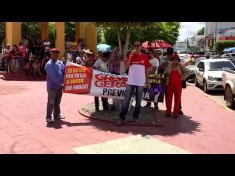Sindicatos de Pedras de Fogo e Itambé protestam contra Reforma da Previdência
