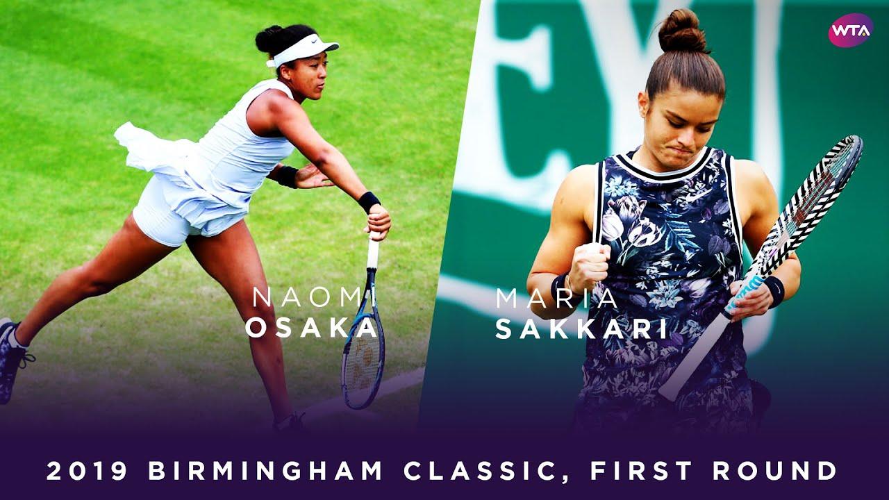 Naomi Osaka vs. Maria Sakkari | 2019 Birmingham Classic First Round | WTA Highlights