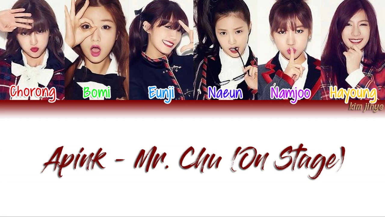 Apink (에이핑크) – Mr  Chu (On Stage Ver ) Lyrics (Han|Rom|Eng|Color Coded) #TBS