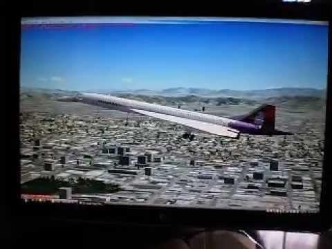 (FSX) Hawaiian Aerospatiale Concorde Landing LAX