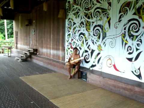 Performance at Orang Ulu Longhouse, Sarawak Cultural Village