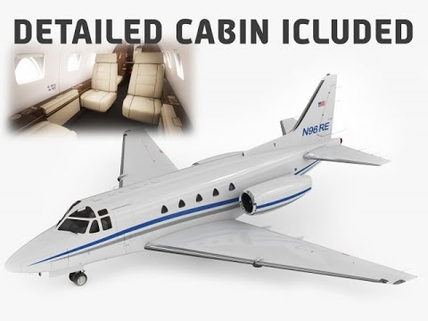 3D Model Sabreliner 60 - 65 with interior at 3DExport.com