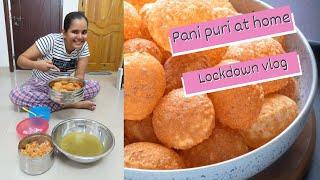 How to make Pani puri at home  Lockdown recipe  Quarantine life  Adi and mahi
