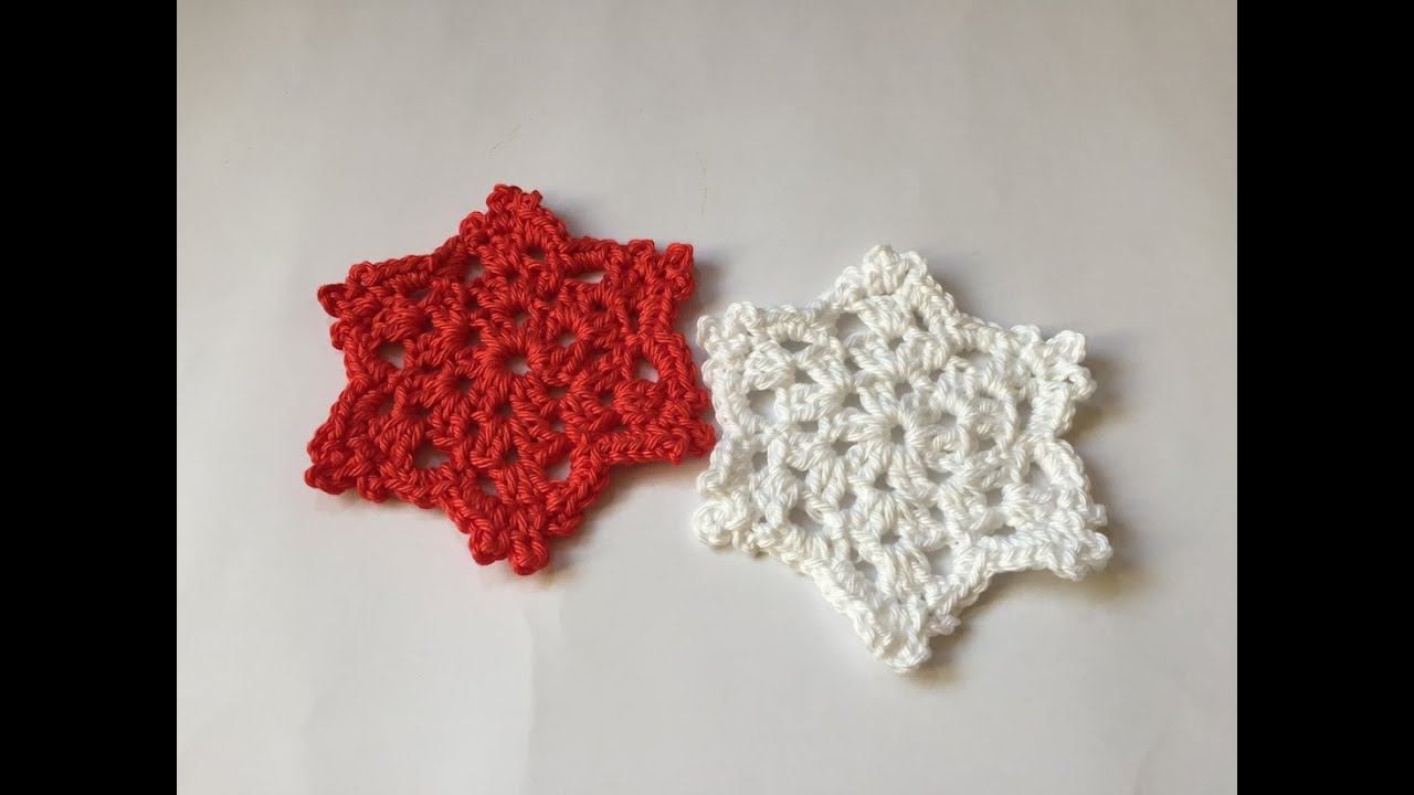Tuto flocon de neige au crochet youtube - Napperon crochet chemin de table ...