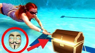 KIDS FIND GAME MASTER KEY IN POOL 24 Hours to DELETE our Videos | The Norris Nuts Game Master Series