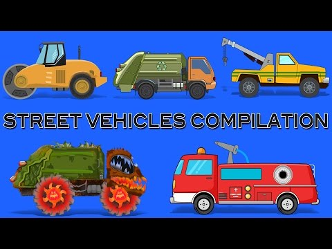 Learn Street Vehicles | Compilation For Children | Transport Video