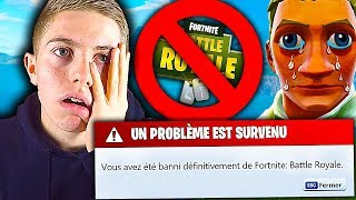 JE VAIS ME FAIRE BANNIR DE FORTNITE À CAUSE DE VOUS SUR FORTNITE BATTLE ROYALE !!!
