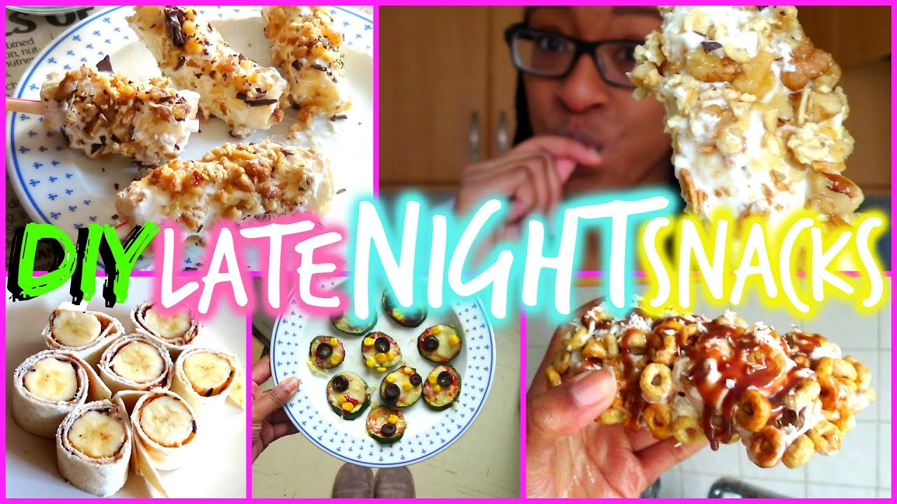 DIY LATE NIGHT SNACK IDEAS! | FionaBrianne - YouTube