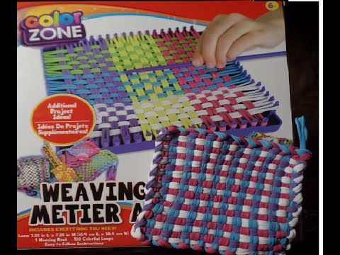 Color Zone Weaving Loom Unboxing And Tutorial Youtube