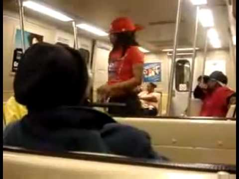 Crazy Girl On MARTA Train In Atlanta - YouTube