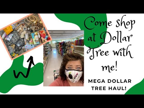 CRAFTING WITH DOLLAR TREE / HUGE DOLLAR TREE HAUL / SHOP WITH ME AT DOLLAR TREE