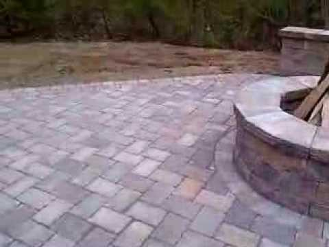 DECK DEMO, NEW PATIO, FIRE PIT U0026 SEAT WALL   YouTube