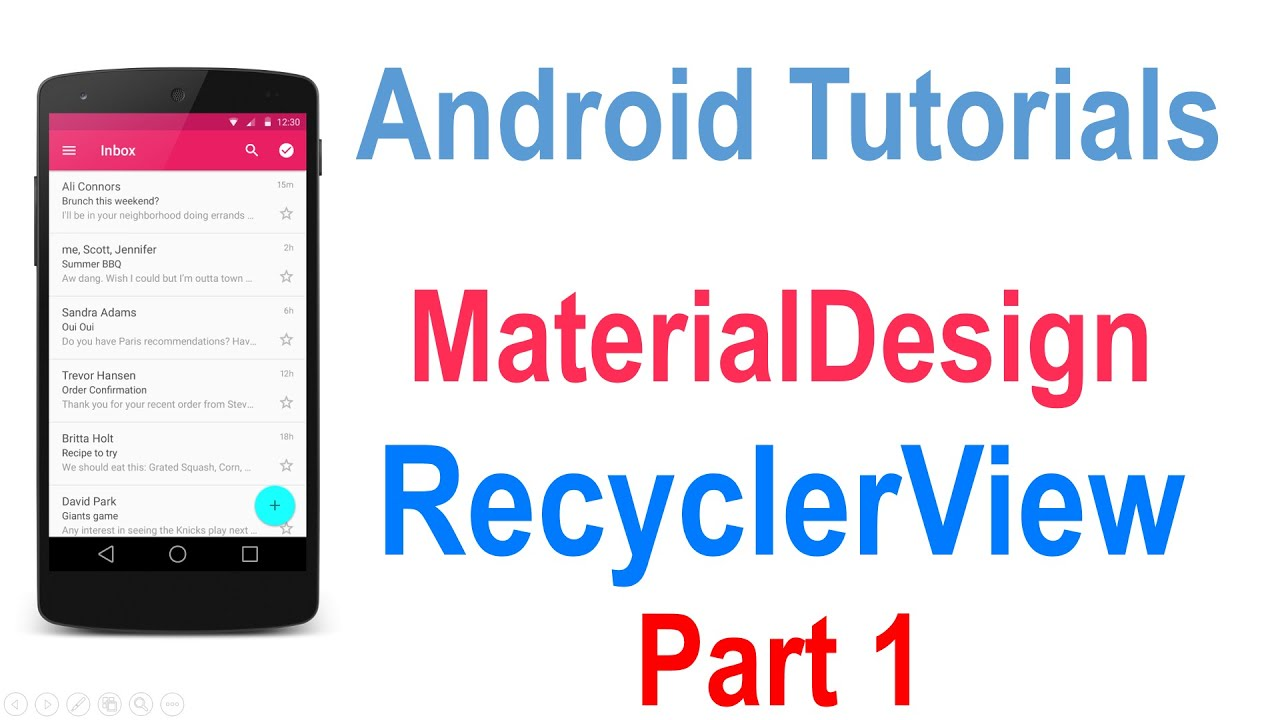 225 Android Recyclerview Tutorial Part 1 Youtube