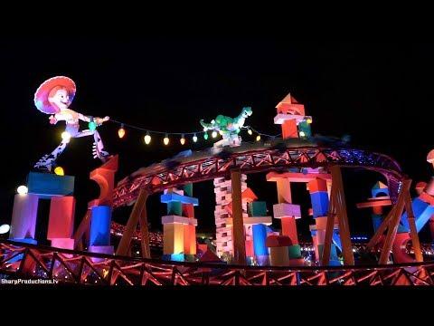 Slinky Dog Dash (4K On-Ride Night) Toy Story Land At Disney's Hollywood Studios - Walt Disney World