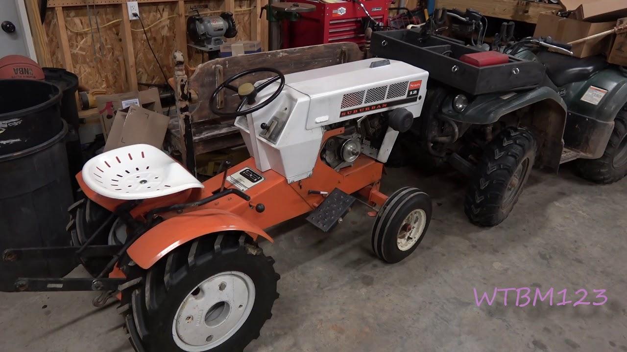 Sears Suburban Trip Spring Snow Plow, SS14 Garden Tractor