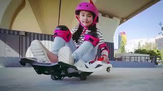 Kids Electric Sit On 12V Extreme Sports Style Skateboard Kart