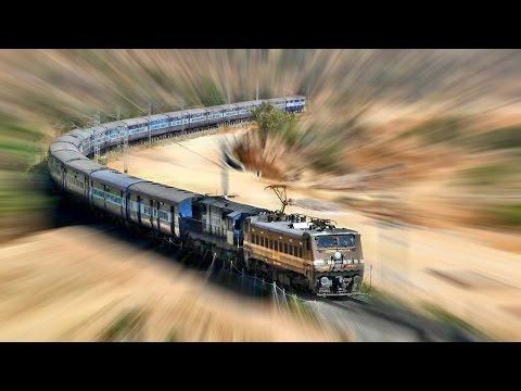 FIRST EVER ELECTRIC RUN - KACHEGUDA YESVANTAPUR Express - Indian Railways