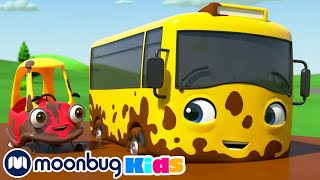 Bubble Trouble at the Carwash - Playing in Muddy Puddles | | Go Buster & Cozy Coupe | Kids Cartoons