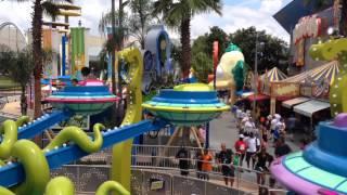 POV of Kang & Kodos' Twirl 'n' Hurl at Universal Studios Florida