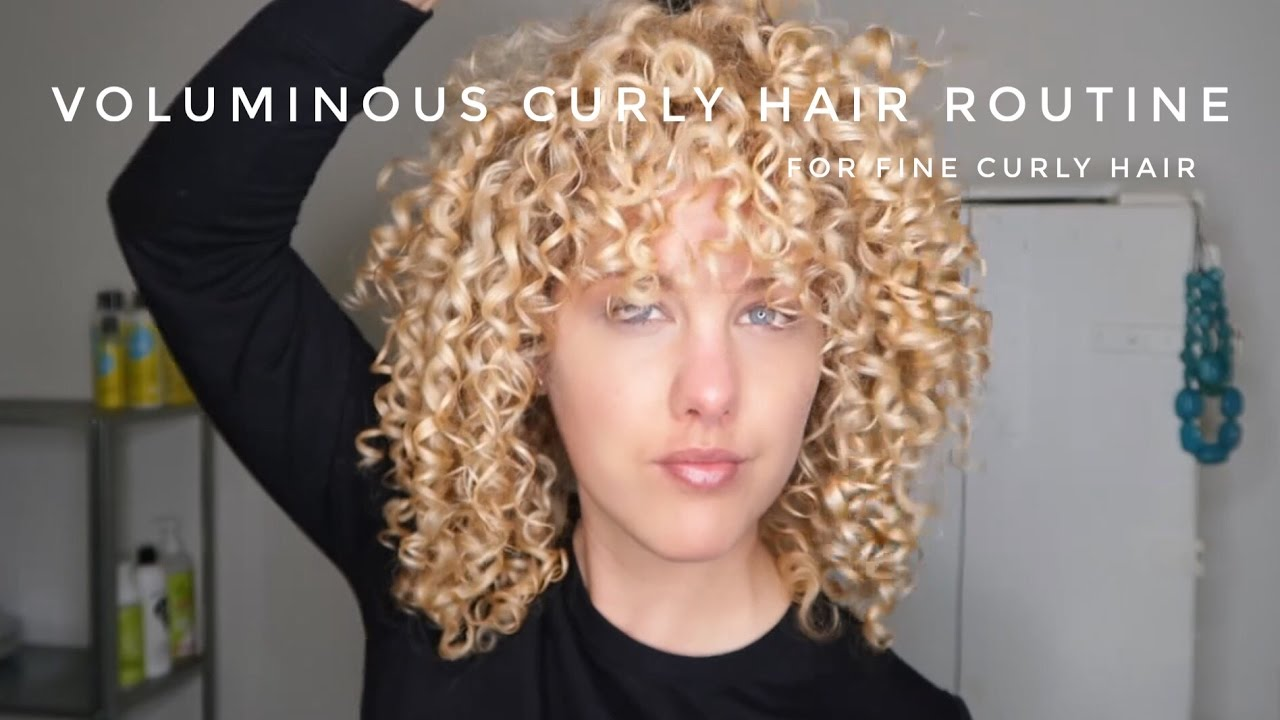 Voluminous Curly Hair Routine Curlsandblondies Youtube