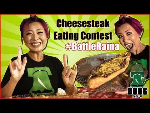 #BattleRaina Cheesesteak Eating Contest | Boo's Philly - Hoagdown 2018 | RainaisCrazy
