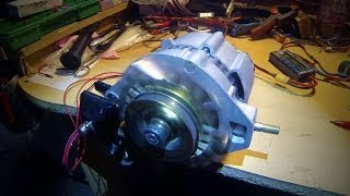Running an alternator as a motor