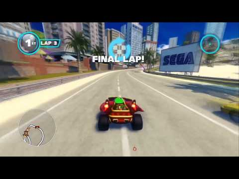 Sonic & All-Stars Racing Transformed (PS3): Outrun Bay - Expert - Reala