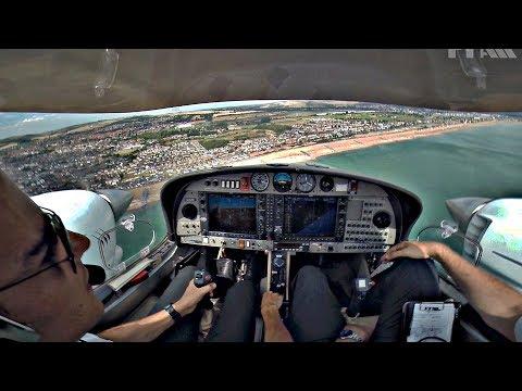 Diamond DA42 Single Engine Circuit & Go Around   MEP Flight Training @ FTA Global   Cockpit View ATC