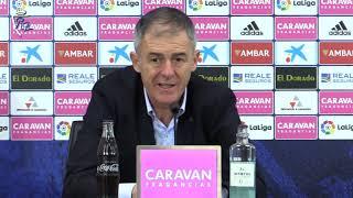 Lucas Alcaraz en rueda de prensa tras el Real Zaragoza 2-2 Mallorca | 17/11/2018