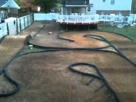 backyard rc track slash 4x4 youtube