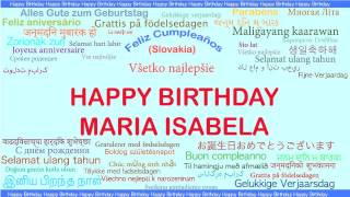 MariaIsabela   Languages Idiomas - Happy Birthday