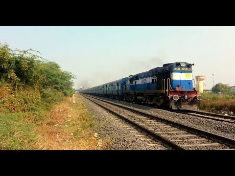Chugging and Honking of WDM 3A with  Coimbatore Rajkot Express