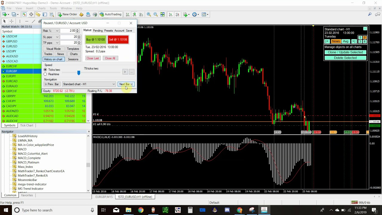 mt4 simulator forex
