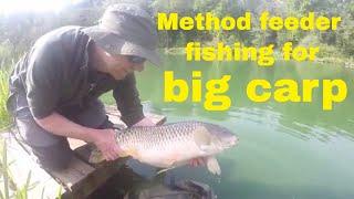 Method feeder fishing for big carp. Carp fishing at Furnace mill, May 2018