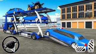 US Police limousine Car Quad Bike Transporter - Android Gameplay
