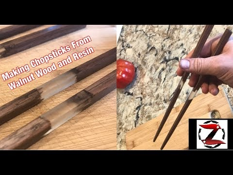Making Chopsticks From Walnut Wood and Resin